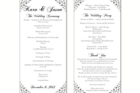 free printable wedding program templates word find and download our hundreds of fresh clean and elegant templates we hand picked all free printable