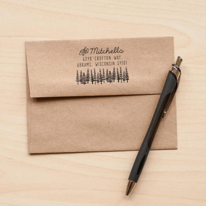 Tree Address Stamp Return Rubber Stationery
