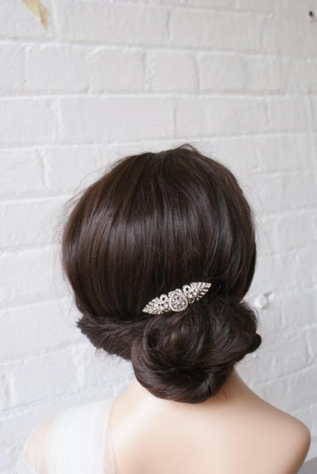 art deco comb wedding hair accessory, 1930s wedding