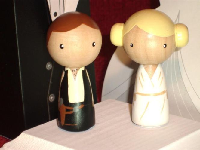 Starwars Inspired Han And Leia Wedding Cake Topper 2435221 Wedd