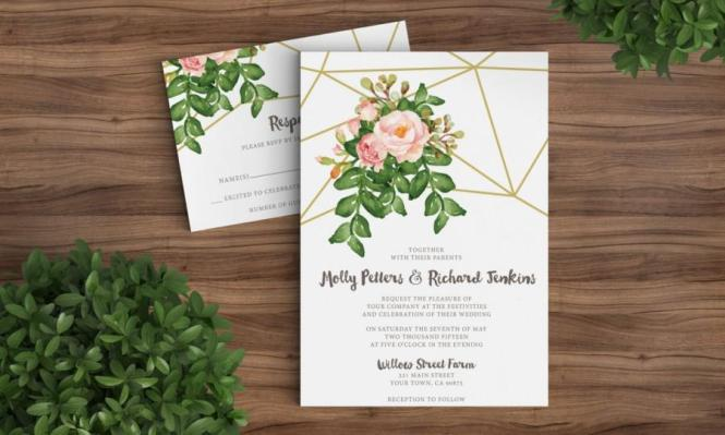 Vintage Fl Invitation Templates