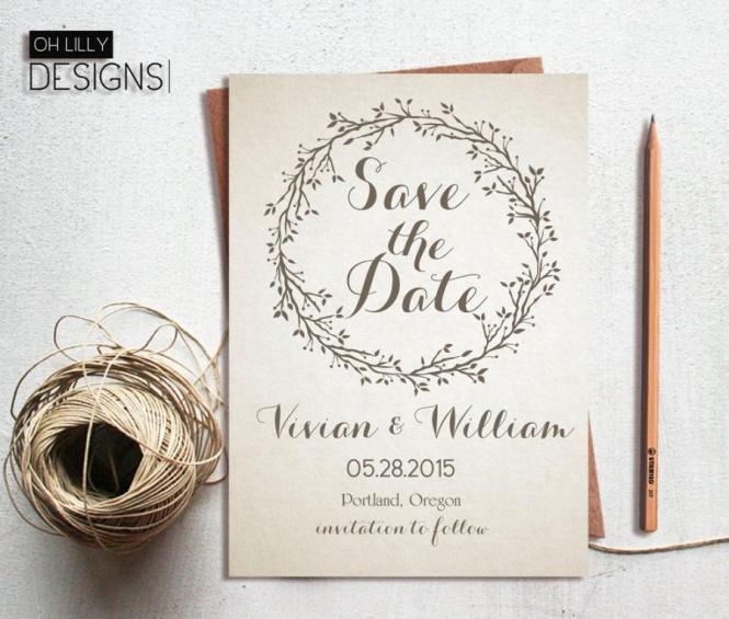 Save The Date Invitation Printable