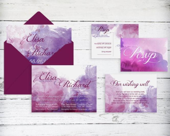 Watercolor Wedding Invitation Printable