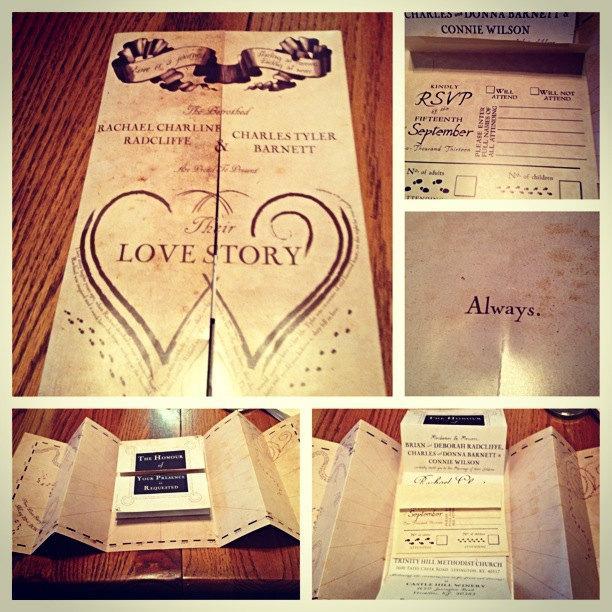 Harry Potter Marauders Map Wedding Invitation 2435199