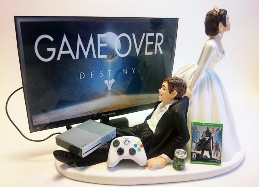 Video Game Xbox One Game Over Funny Gamer Wedding Cake