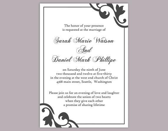 word templates for wedding invitations Wedding Invitation – Invitation Template Word
