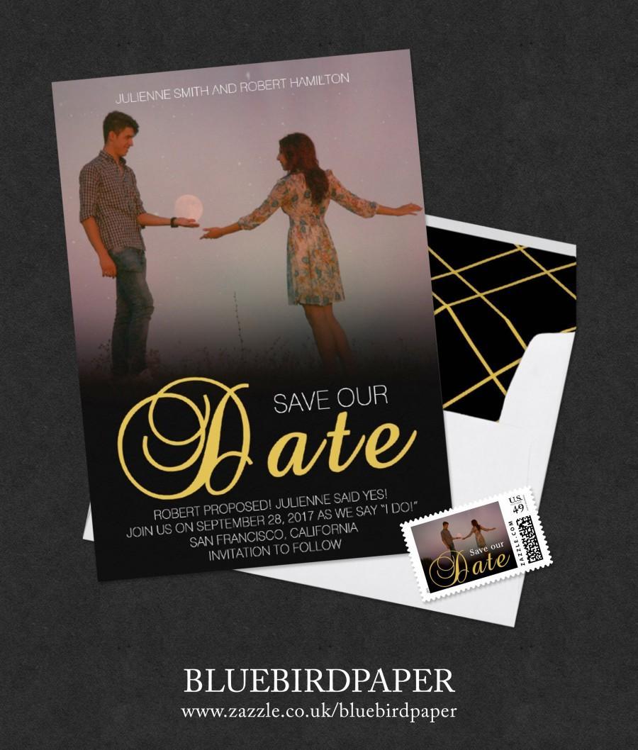 romantic movie poster style photo save the date 2444122 weddbook