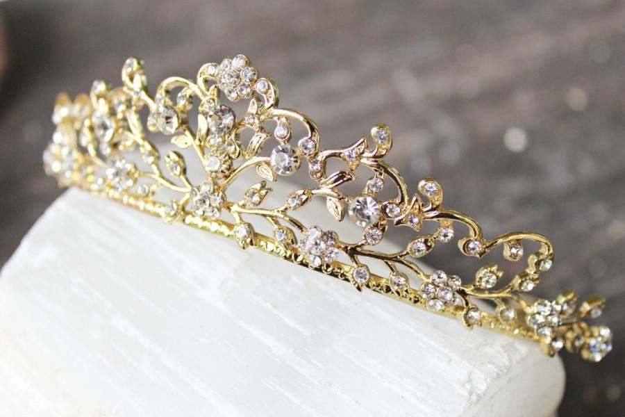 Bridal Tiara Gold Tiara CERES Swarovski Bridal Tiara