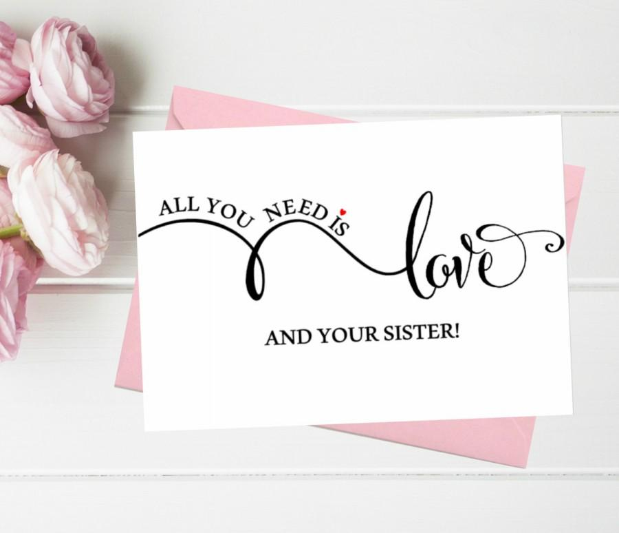 Funny Asking Bridesmaid Cards All You Need Is Love And Your