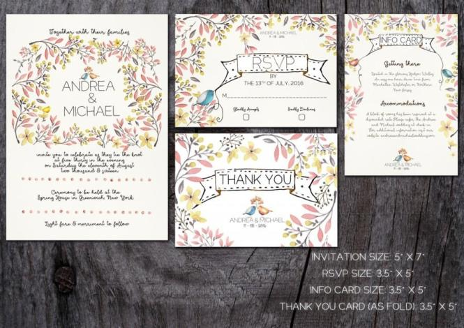 Whimsical Wedding Invitation Printable
