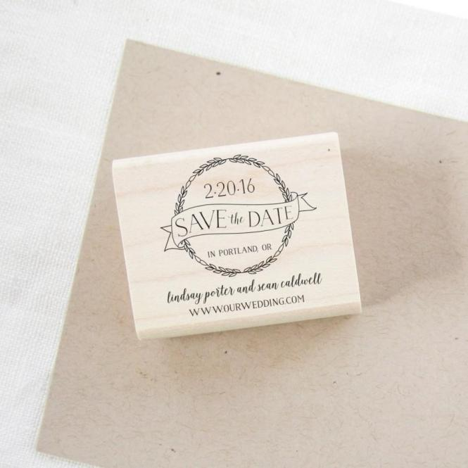 Save The Date Stamp Wedding Invitation