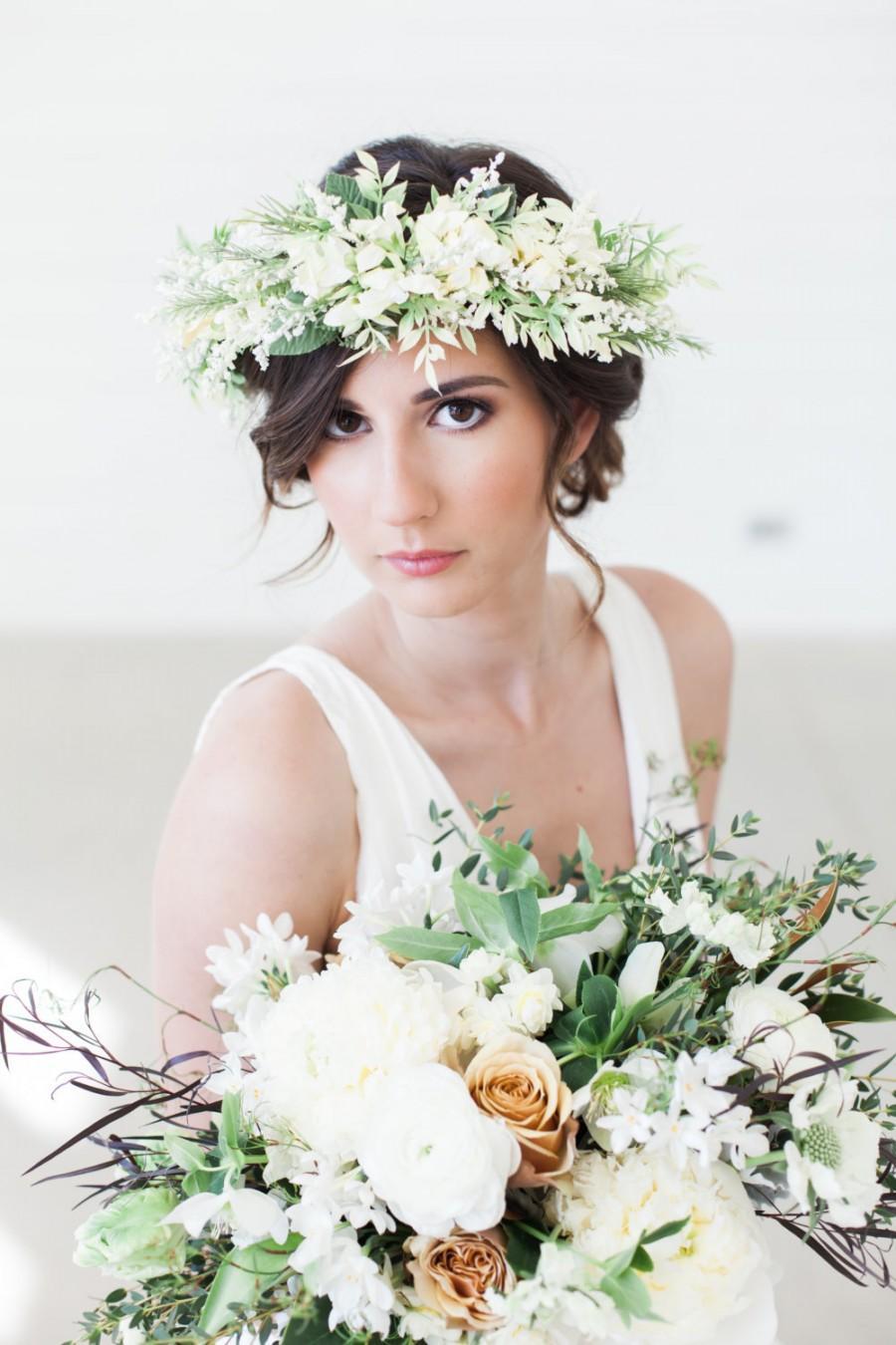 bridal flower wreath ivory flower crown bridal hair crown floral hair wreath flower tiara flower crown headband flower headpiece