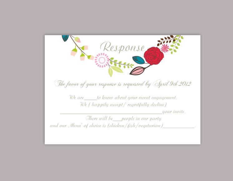 Images of Free Printable Wedding Rsvp Card Templates - Weddings Center