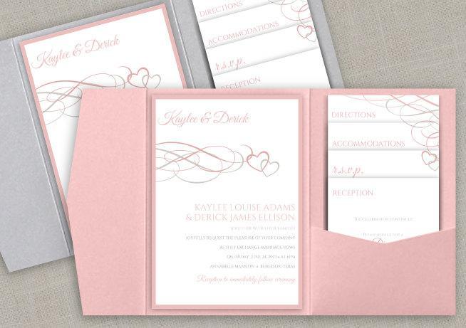 Diy Pocket Wedding Invitation Set Instant