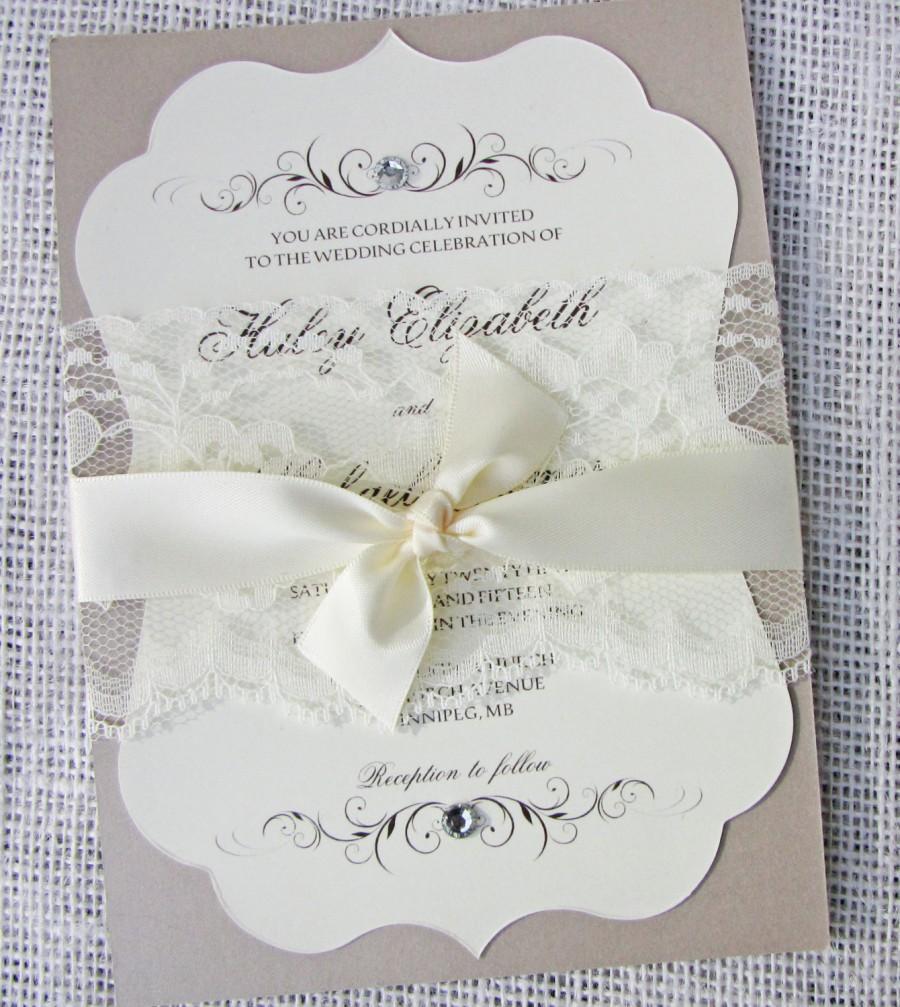 Wedding Invitations Classic Elegant PaperInvite