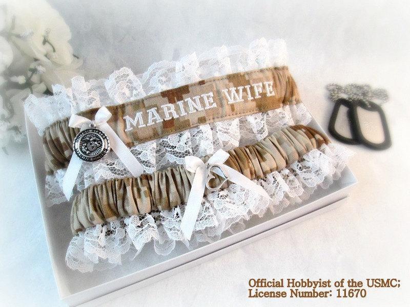 Marine Corps Bridal Garters