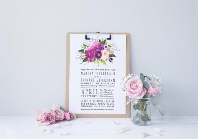 Boho Wedding Invitation Suite Deposit