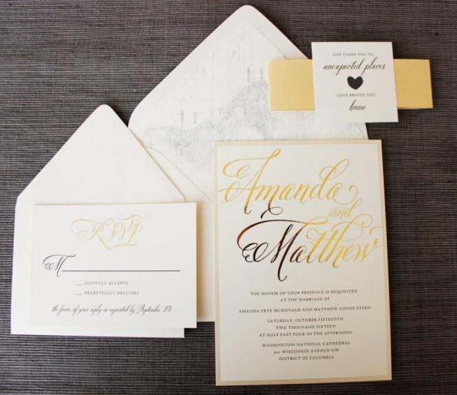 Love Brings You Home Wedding Invitation