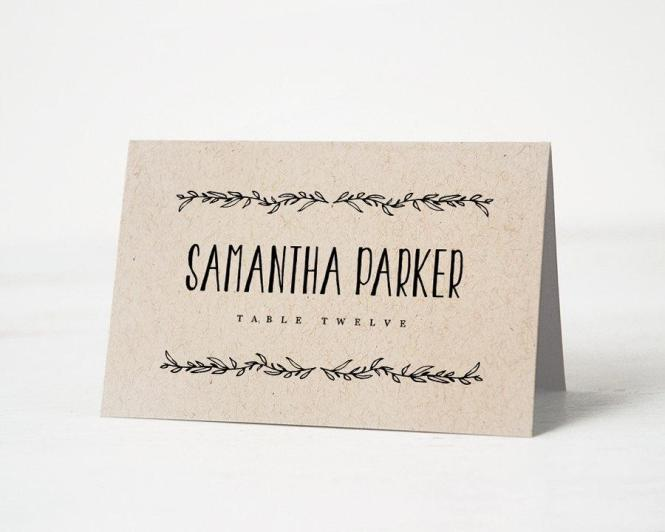 Free Place Card Template 6 Per Sheet. Free Averyâ® Template For