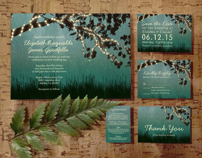 Order Rustic Wedding Invitations