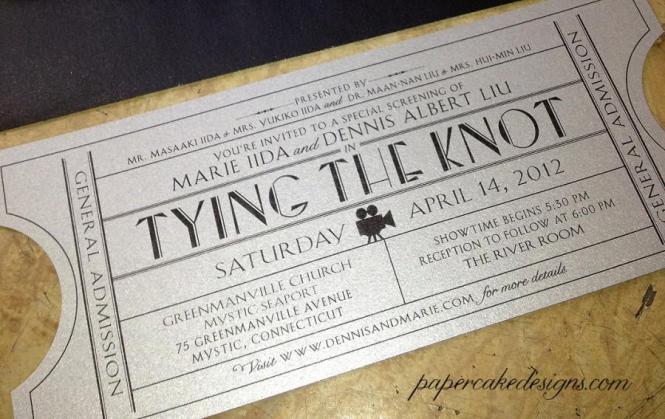 Vintage Wedding Invitation Ticket Diy