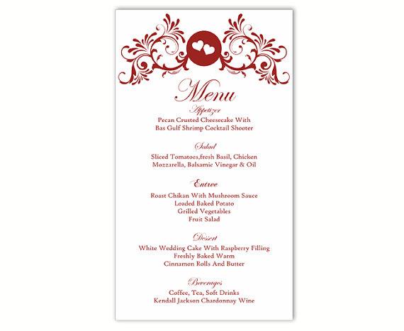 Word Templates Menu wedding menu template diy menu card template – Menu Templates Free Download Word