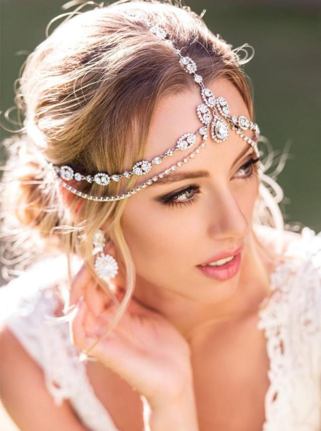 bohemian wedding hair accessory, bridal headpiece, bohemian