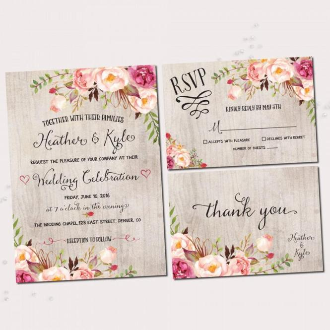 Bohemian Wedding Invitations To Inspire You With Stunning Invitation Design Ideas 20