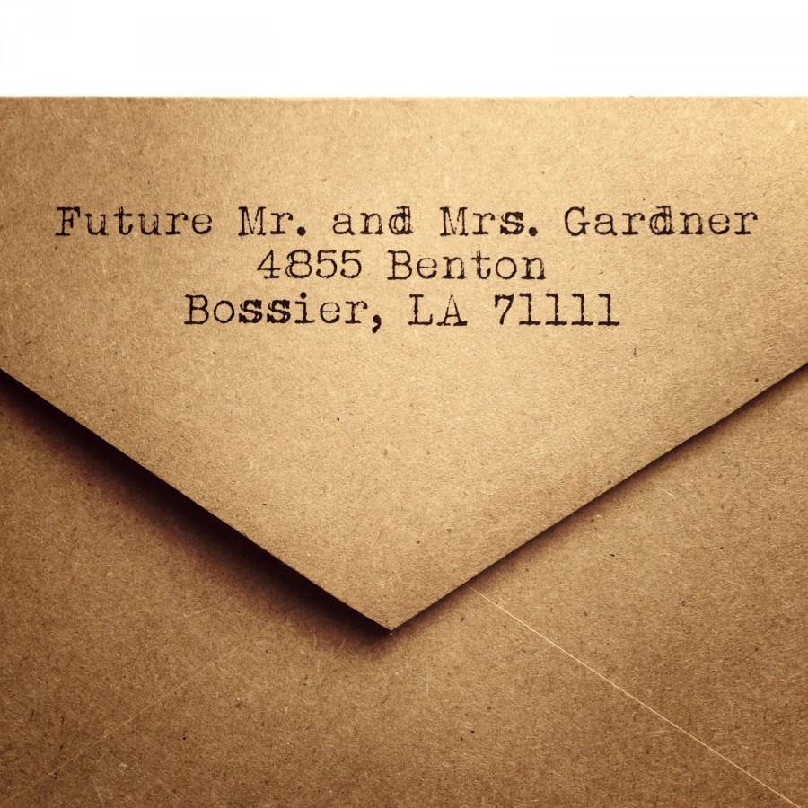 25 Rustic Return Address A2 Envelopes Wedding