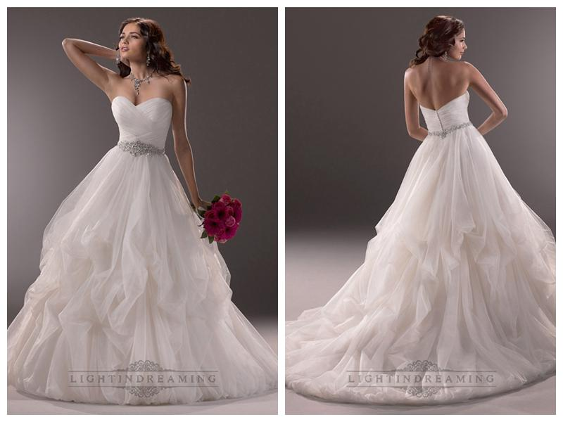 Criss-cross Ruched Sweetheart Ball Gown Wedding Dresses