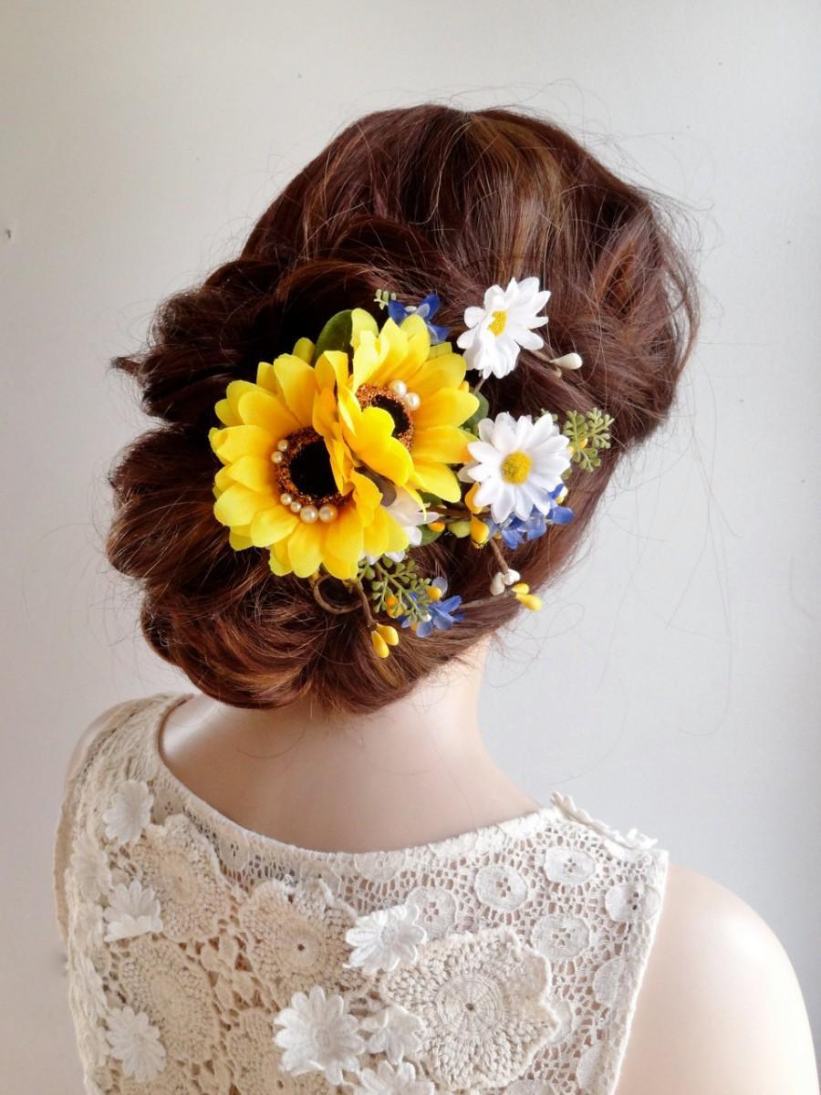 Sunflower Hair Clip Sunflower Hair Comb Daisy Hair Clip