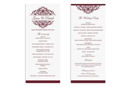 Bridesmaid dress » wedding program templates word free | Bow ...