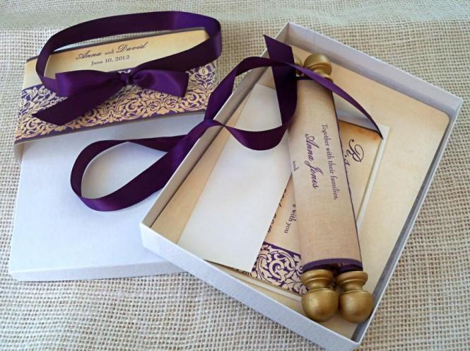 Aubergine Wedding Invitations