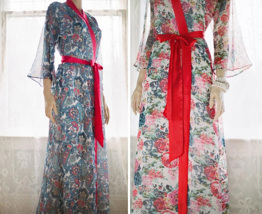 """One Custom """"Astaire"""" Style Long Robes In Lined Chiffon"""