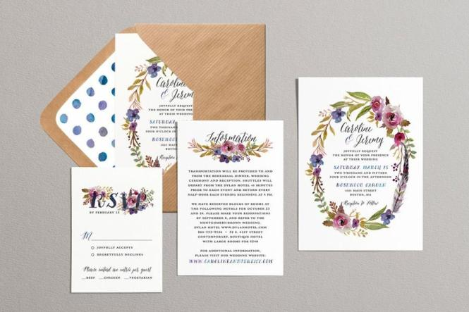 Bohemian Wedding Invitations To Create Your Invitation With Captivating Design 7