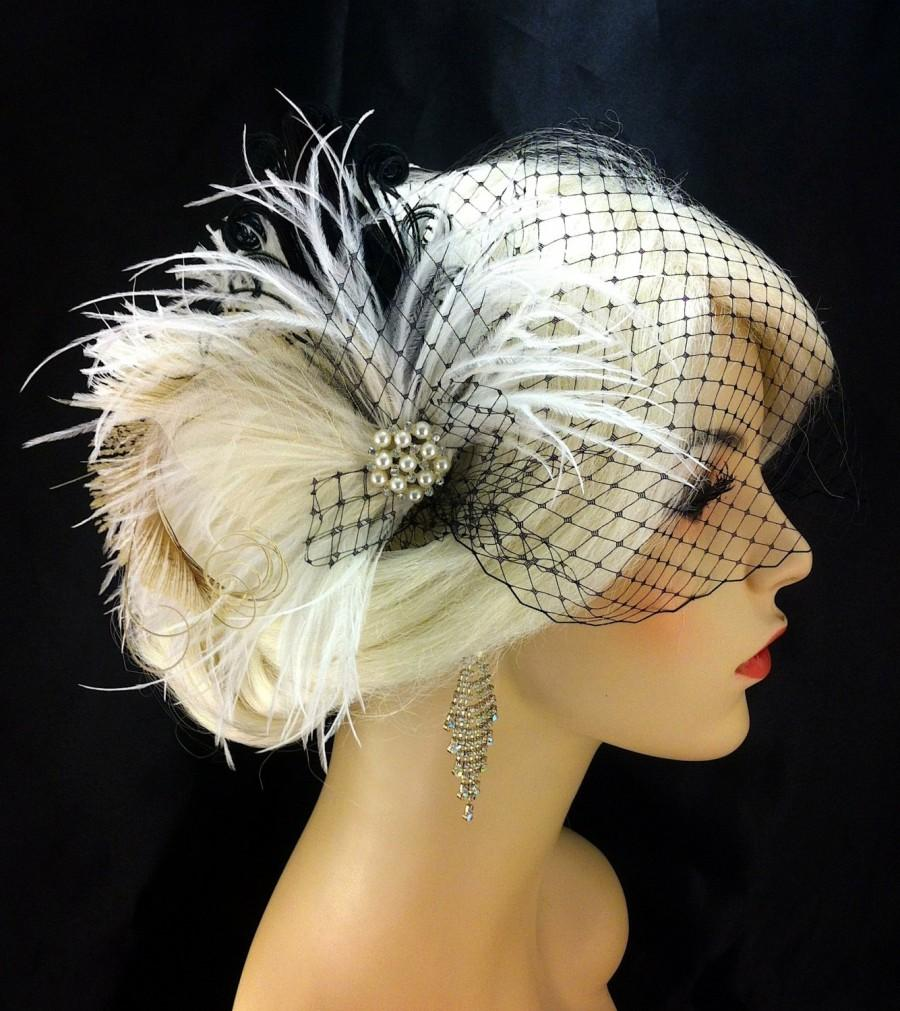 Fascinator Bridal Feather Fascinator Bridal Headpiece