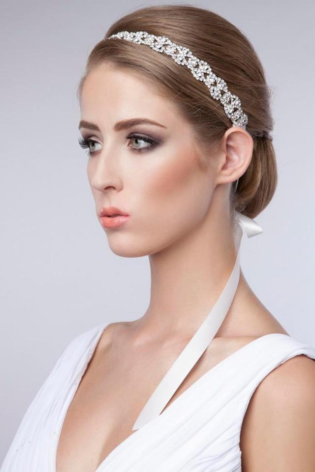 rhinestone headband, bridal wedding headband, crystal