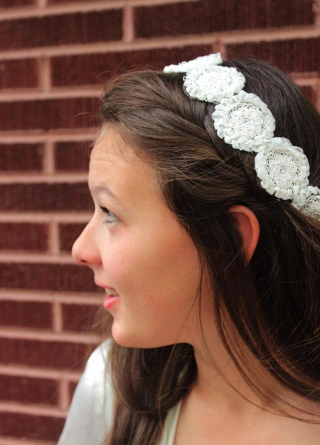 bohemian bridal lace headpiece -tauriel - boho wedding hair