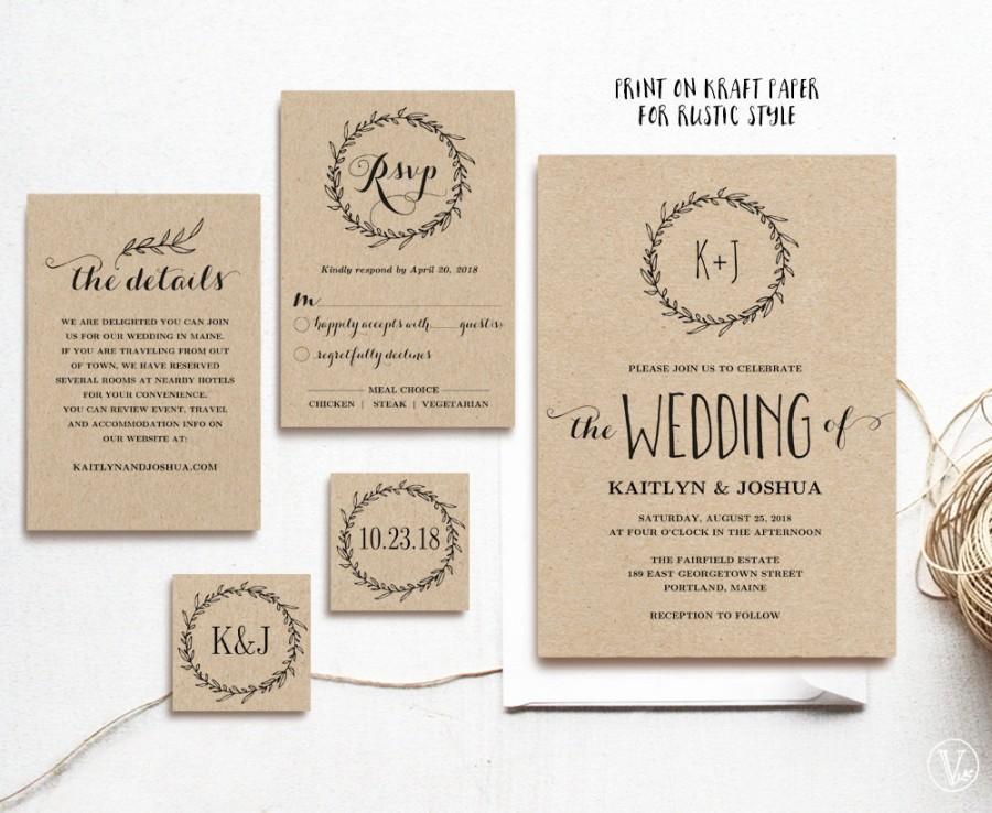 Rustic Wedding Invitation Templates free wedding invitation – Free Printable Rustic Wedding Invitations