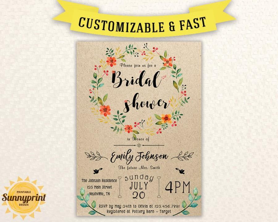 Free Printable Wedding Shower Invitations Templates PaperInvite