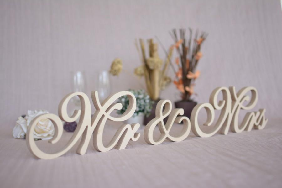 Mr Mrs Table Signs. Wedding Signs Mr Mrs Set. Top Table Mr