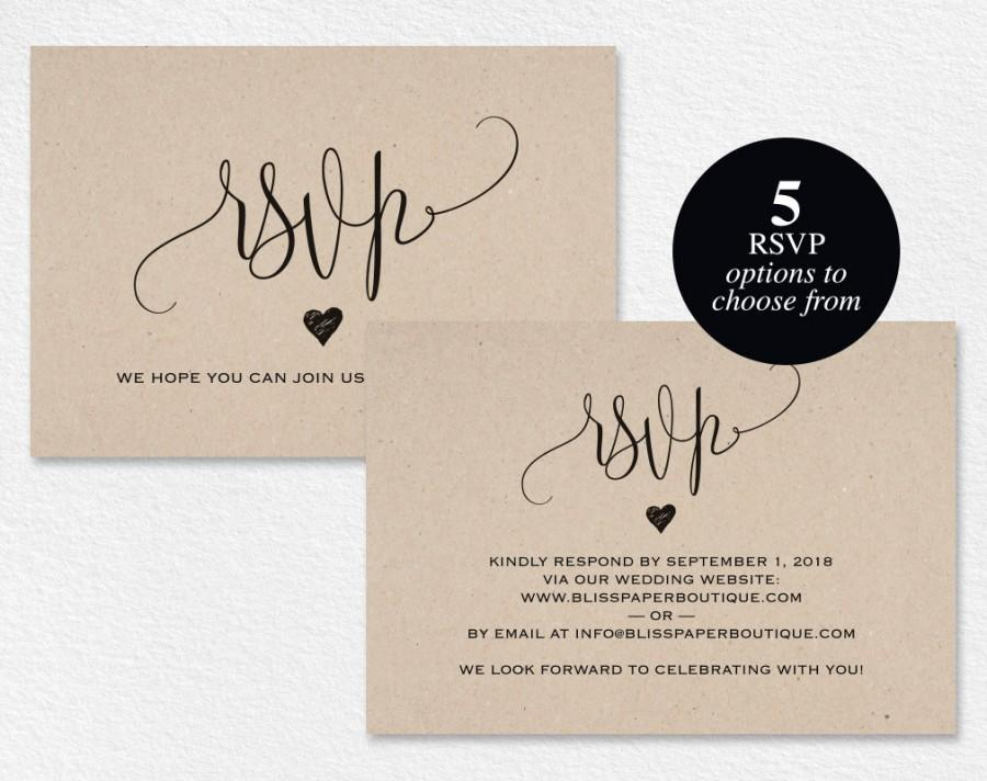 Rsvp Template For Wedding trees love birds and wedding on – Diy Wedding Rsvp Cards