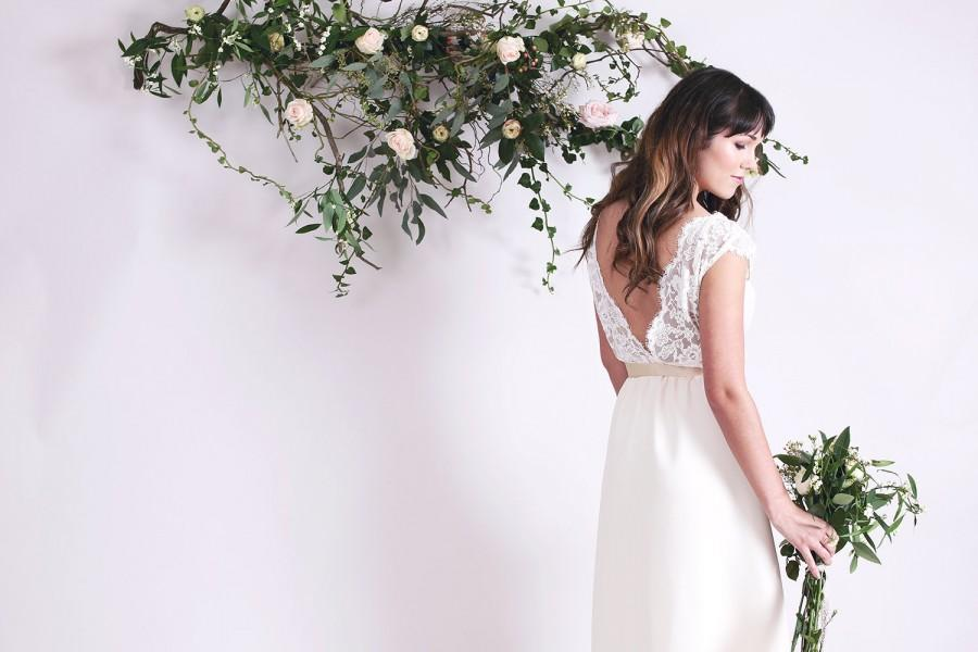 Cream Corded Lace Bridal Gown