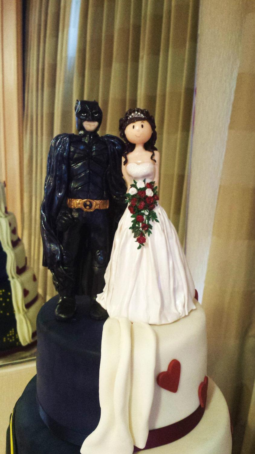 Dekor   Bride And Superhero Wedding Cake Topper  2557647   Weddbook Bride and Superhero Wedding Cake Topper