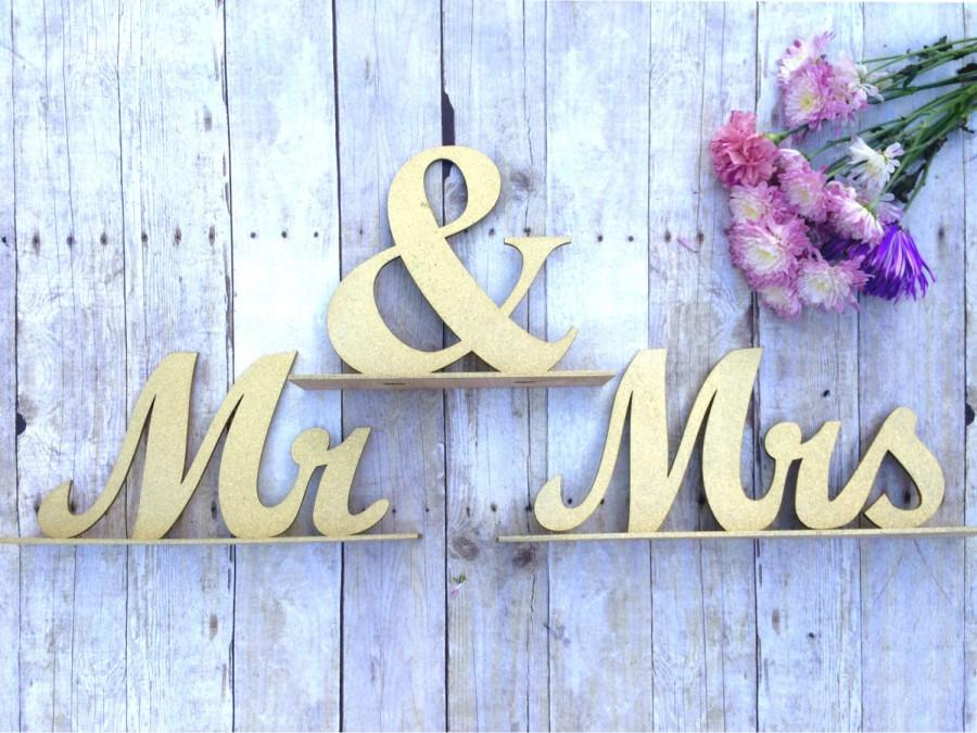 Mr And Mrs Sign, Wedding Sweetheart Table, Mr And Mrs