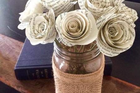 Paper flowers from book pages flower shop near me flower shop book page paper rose by suzi mclaughlin notonthehighstreet com book page paper rose vintage book page flowers lia griffith paper rose bouquet book pages mightylinksfo