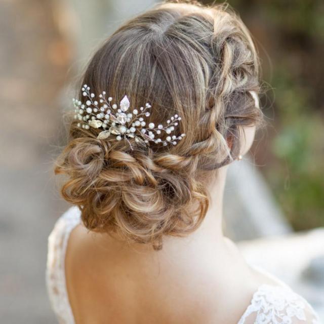 pearl bridal hair comb wedding hair comb decorative hair