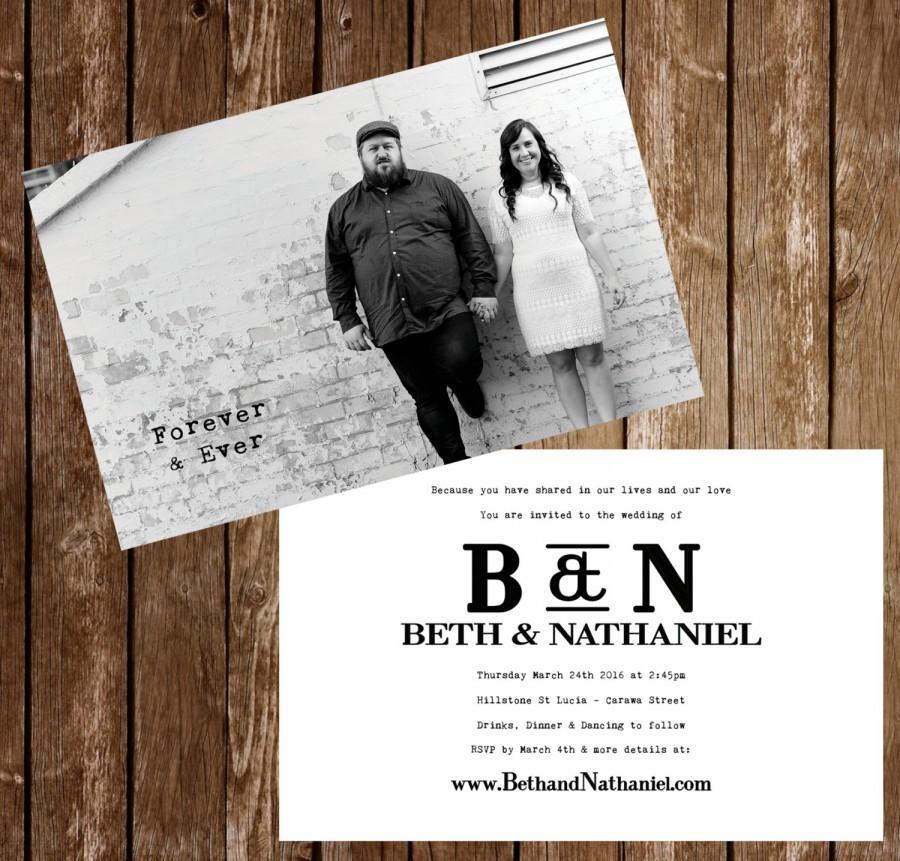 Wedding Postcard Invites PaperInvite