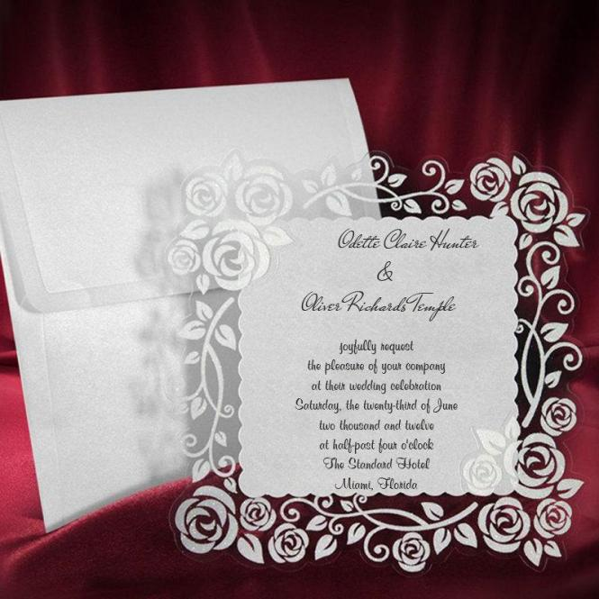 Lace Wedding Invitation Card Personalized Handmade Invite