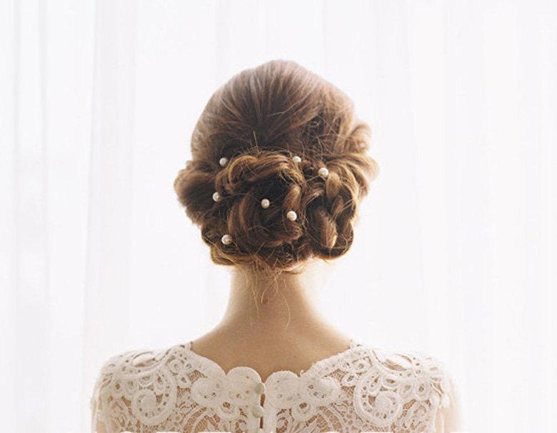 pearl hair pin bridal hair pin golden hair pins wedding hair accessories flower hair pins pearl bead hair pin pearl bobby pins